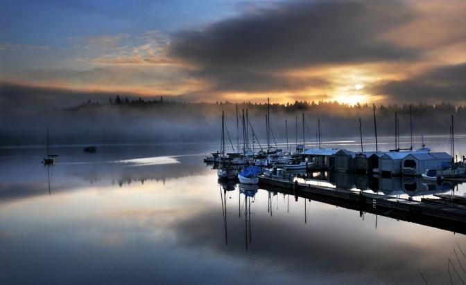 marina sunrise 032312