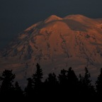 SNAPSHOT: Snow mountain, last light, evening delight