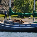 Falling in love with a green-hulled ketch, naming her after the love of his life