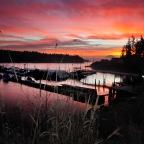 Crimson Sky Over Longbranch A Brief Winter Interlude