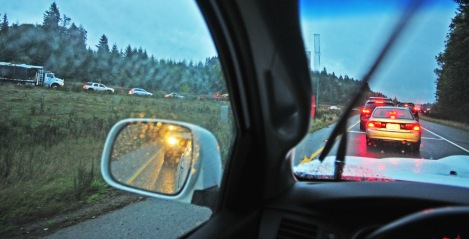 An accident involving an SUV on eastbound State Route 16 by the Burnham exit backed up traffic early Wednesday morning.