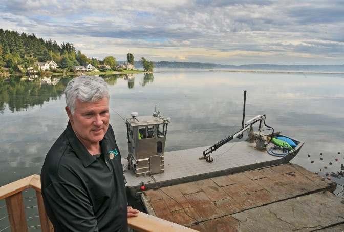 Kent Kingman said Minterbrook harvests more than 3 million oyster a year from 70 acres of beds at the mouth of Minter Creek.