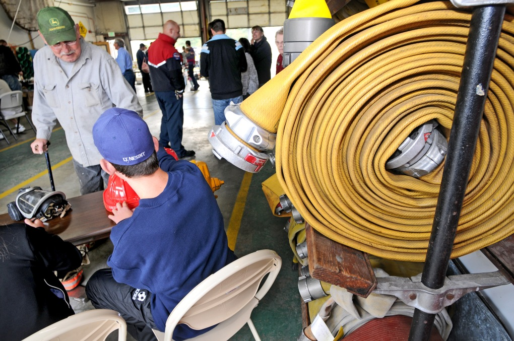 Tour guests received information at the fire house where a free breakfast was served, kicking off the KP Famr Tour