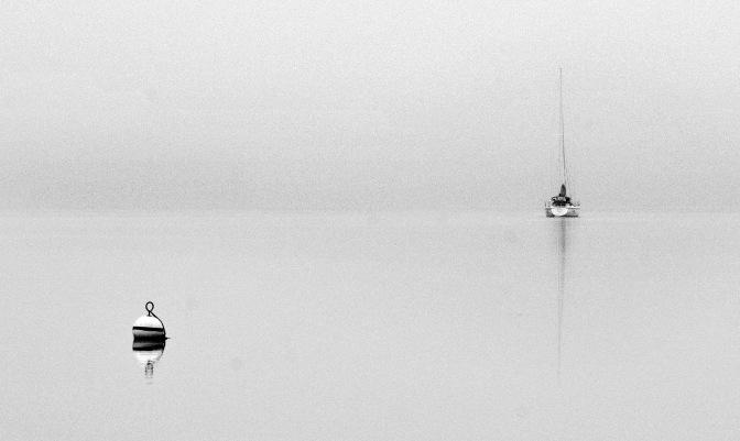 Sailing away.