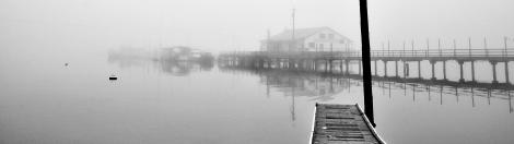 Lakebay Marina in the fog early Monday morning Oct. 13, 2014.