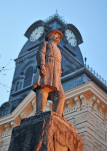 A statue of General Hiram B. Granbury, the city's namesake, stands at the County Courthouse.