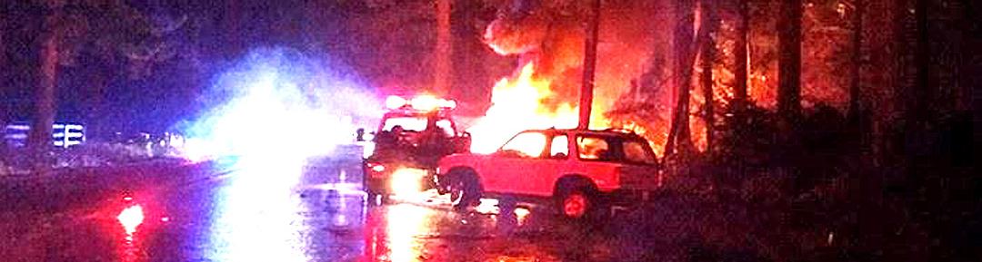 Car Hits Tow Truck, Bursts Into Flames, Closes Key Peninsula