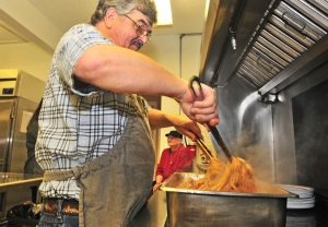 Gig Harbor chef Oliver Coldeen has kept the feed going for the past decade, persuading three area churches to sponsor the meals.