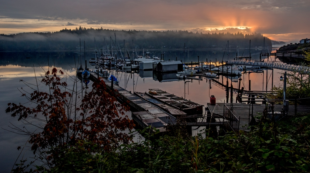 Sunrise at the Longbranch, Washington, Marina Friday Oct. 9, 2015.