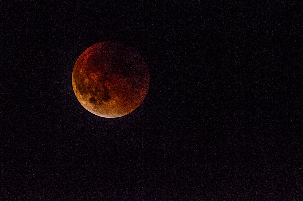 The Blood Moon Sunday Sept. 27, 2015. This was also a Super Moon and a total lunar eclipse seen from Longbranch, Washington.